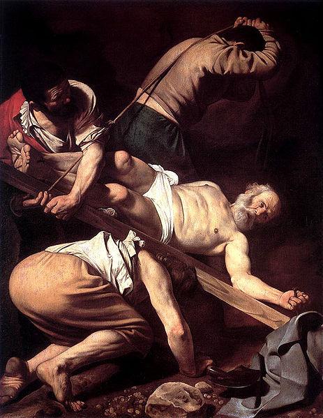Caravaggio Crucifixion Peter