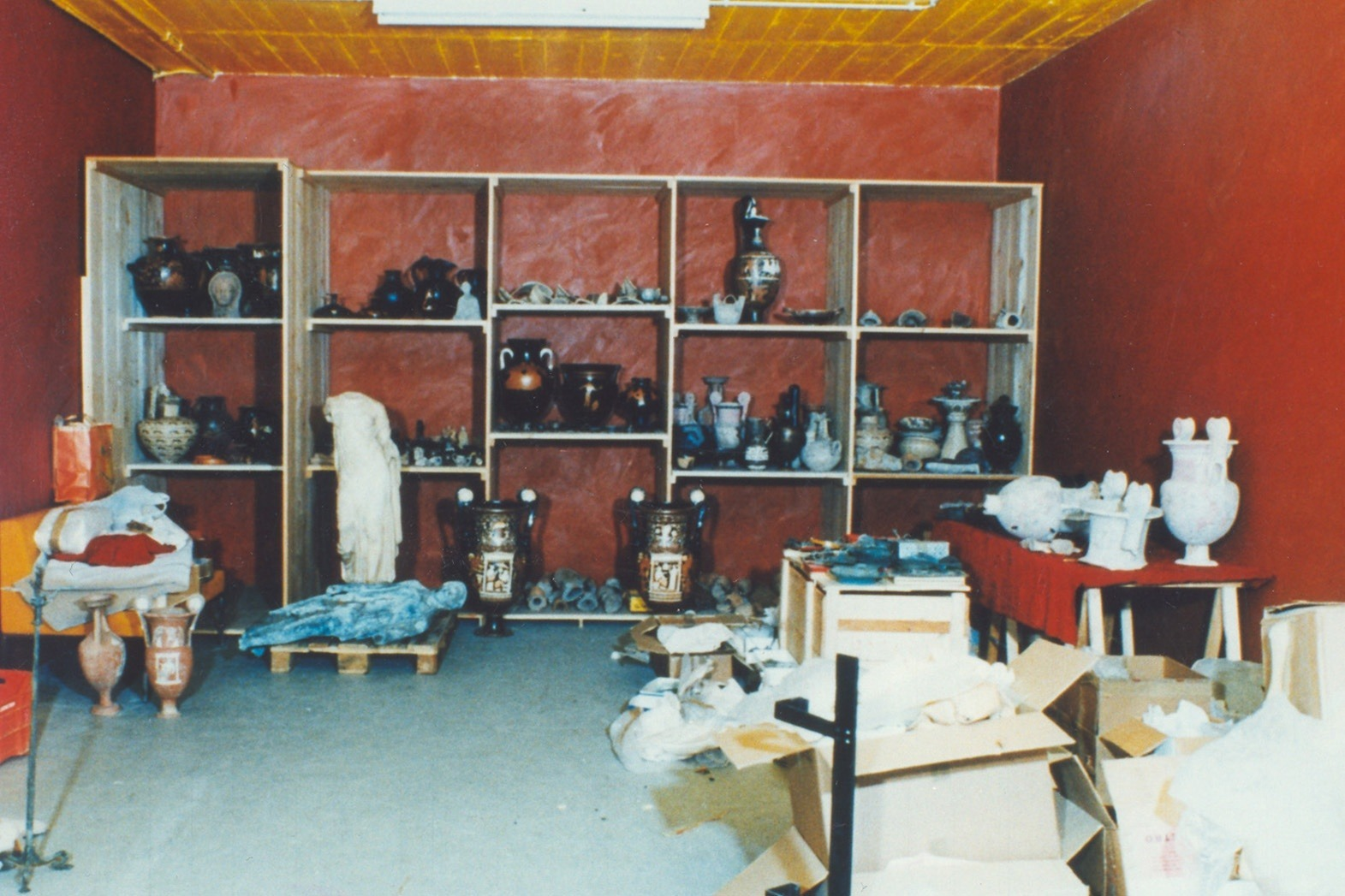 Photograph of the interior of Medica's warehouse in the Geneva Freeport