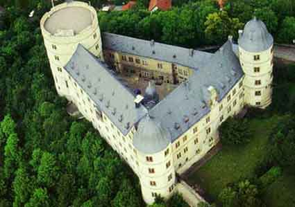Arial photograph of Wewelsburg Castle