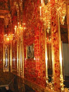 Part of the newly restored Amber Room