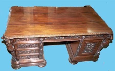 French Partner's Desk - c.1890