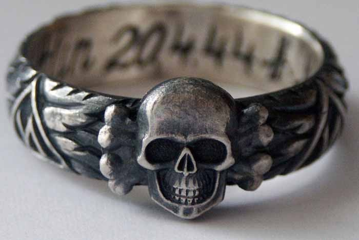 A Totenkopfring (Death's Head ring)